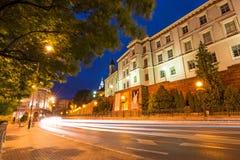 Zamkowa 's nachts straat Royalty-vrije Stock Foto