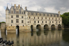 zamku de France chenonceau Loire valley Chenonceaux Francja Zdjęcia Royalty Free