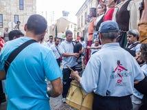 Zamora, Ισπανία - 29 Αυγούστου 2015: Αυλητές Πουέμπλα de Sanabria, Στοκ Εικόνες
