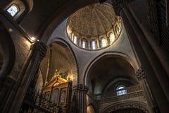 Zamora, binnenlandse kathedraal Royalty-vrije Stock Foto's