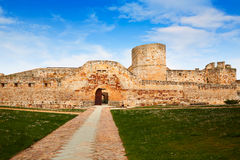 Zamora the castle El Castillo in Spain Stock Images