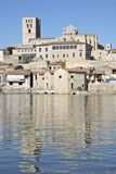 Zamora city, Spain. Cathedral and Douro river in Zamora, Spain Royalty Free Stock Photo