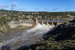 Zamora crosses a river Stock Photos