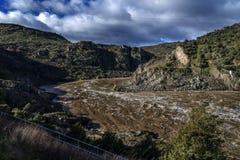 Zamora crosses a river Royalty Free Stock Image