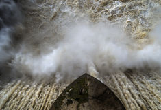 Zamora crosses a river Stock Image