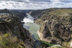 Zamora crosses a river Stock Photo