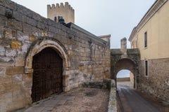 Zamora door of the bishop Stock Photos