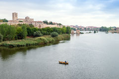 Zamora and Douro river Royalty Free Stock Photos