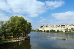 Zamora and Douro river Stock Photos