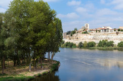 Zamora and Douro river Royalty Free Stock Photography