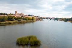 Zamora en Douro-rivier Royalty-vrije Stock Foto