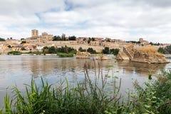 Zamora en Douro-rivier Royalty-vrije Stock Afbeeldingen