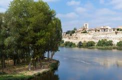 Zamora en Douro-rivier Royalty-vrije Stock Fotografie