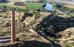 Zamora, fertile plaine Toto. Roman bridge in the fertile plaine of Bull Zamora Spain Royalty Free Stock Photography