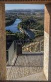Zamora, fertile plaine Toto. Roman bridge in the fertile plaine of Bull Zamora Spain Royalty Free Stock Photo