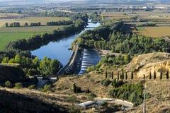 Zamora, fertile plaine Toto. Roman bridge in the fertile plaine of Bull Zamora Spain Stock Photos