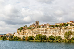 Zamora and its banks with the Duero river, Spain Royalty Free Stock Photo