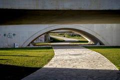 Zamora nieuwe brug Stock Foto's