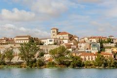 Zamora nos bancos do rio de Douro Imagens de Stock Royalty Free