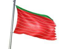 Zamora Provincie van de Vlag van Spanje golven geïsoleerd op witte realistische 3d illustratie als achtergrond vector illustratie
