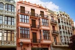 Zamora Sagasta kwadrata fasady w Hiszpania Zdjęcie Stock