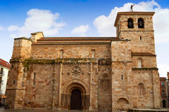 Zamora San Juan εκκλησία σε Plaza δήμαρχος Spain Στοκ φωτογραφίες με δικαίωμα ελεύθερης χρήσης