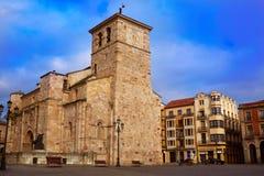 Zamora San Juan εκκλησία σε Plaza δήμαρχος Spain Στοκ Εικόνα