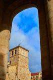 Zamora San Juan εκκλησία σε Plaza δήμαρχος Spain Στοκ Εικόνες