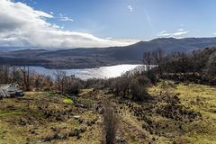 Zamora Sanabrias sjö royaltyfria bilder