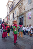 Zamora, Spain - August 29, 2015: Giants and big heads Stock Photography