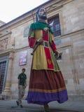 Zamora, Spain - August 29, 2015: Giants and big heads Stock Image