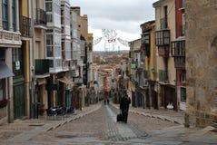 Balborraz street, Zamora Spain royalty free stock photo
