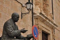 Ignacio Sardá memorial, Zamora, Spain stock image
