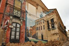 Urban wall-art in Zamora, Spain stock images