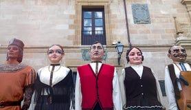 Zamora, Spanje - Augustus 29, 2015: Reuzen en grote hoofden Royalty-vrije Stock Foto's