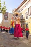 Zamora, Spanje - Augustus 29, 2015: Reuzen en grote hoofden Royalty-vrije Stock Afbeeldingen