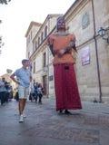 Zamora, Spanje - Augustus 29, 2015: Reuzen en grote hoofden Stock Fotografie