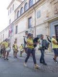 Zamora, Spanje - Augustus 29, 2015: Reuzen en grote hoofden Royalty-vrije Stock Fotografie