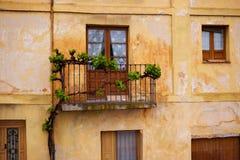 Zamora stare fasady w Hiszpania obok Przez De Los angeles Plata Fotografia Royalty Free