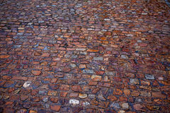 Zamora stone cobblestone floor texture Spain Royalty Free Stock Images