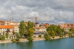 Zamora sur les banques de la rivière Douro Photos libres de droits
