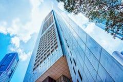 Zamorski Union Bank centrum OUB Jeden Raffles miejsce Singapur obraz stock