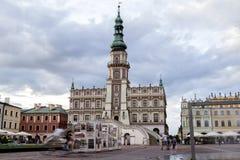Zamosc -新生城市在中欧 免版税库存照片
