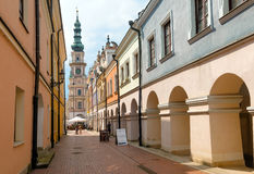 Zamosc city center, Poland Royalty Free Stock Photography