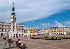 Zamosc city center, Poland Stock Photos