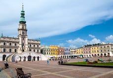 Zamosc city center, Poland Royalty Free Stock Images