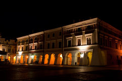 Zamosc on night Royalty Free Stock Images