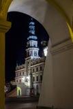 Zamosc at night - Poland. Stock Photos