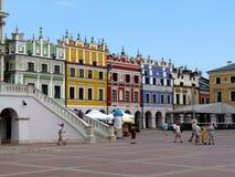 Zamosc, Polen: Hauptmarkt von Zamosc Stockbilder