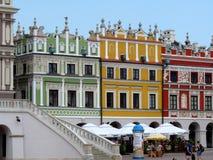 Zamosc, Polen: Hauptmarkt von Zamosc Lizenzfreie Stockbilder